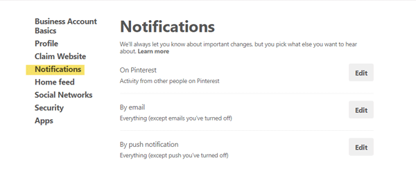 How to Stop Getting Email from Pinterest