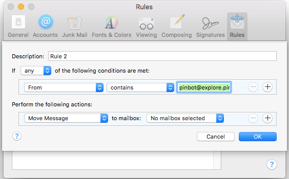 How to block sender in Mail app for OS X