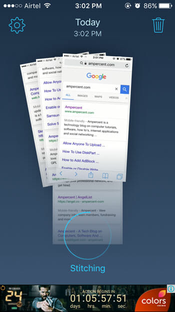 How to capture scrolling page screenshot on iOS