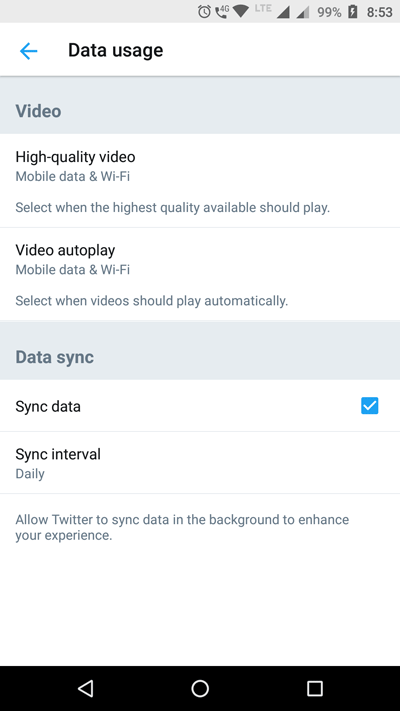 How to enable data saver in Twitter