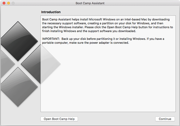 How to install Windows on Mac using Boot Camp Assistant