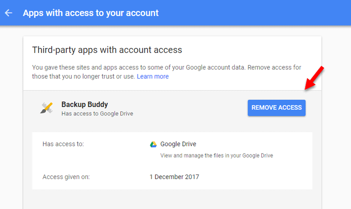 How to revoke app access to your Google profile