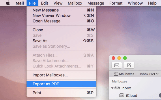 How to save any email as PDF