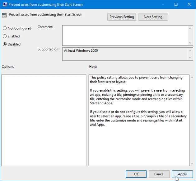 Howt o Remove Pin to Start from Windows 10 Context Menu