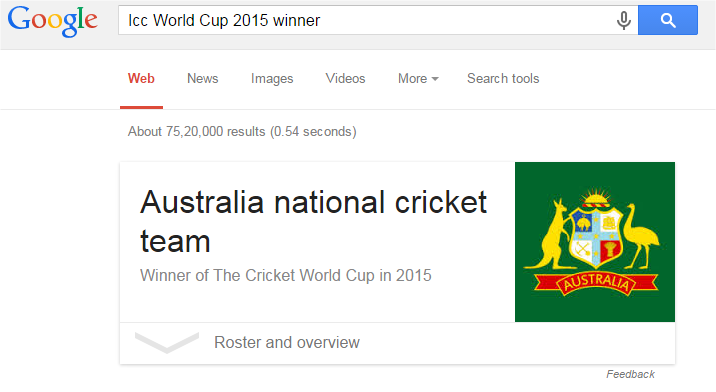 Icc World Cup 2015 winner