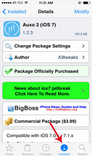 Installed-Cydia-Package