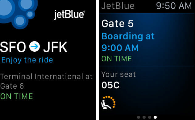 JetBlue for Apple Watch