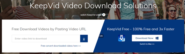 KeepVideo Free Online Video Downloader