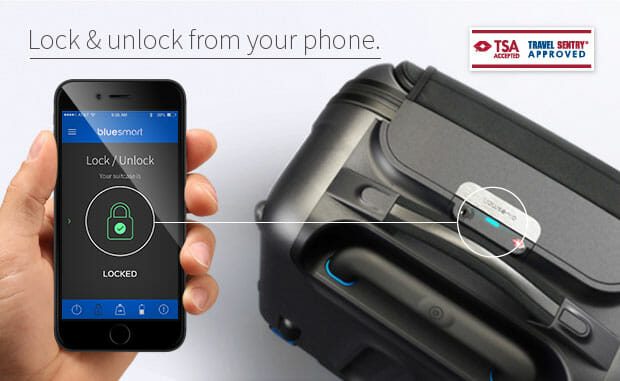 Lock and Unlock Bluesmart