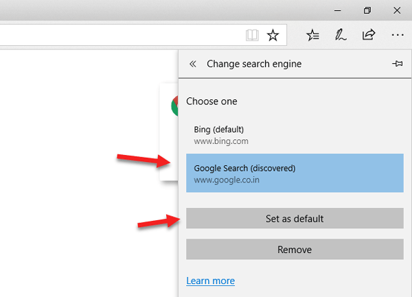 how to change your search from yahoo to google