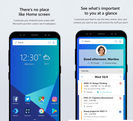 Microsoft Launcher Top 20 Free Microsoft Apps for Android and iOS