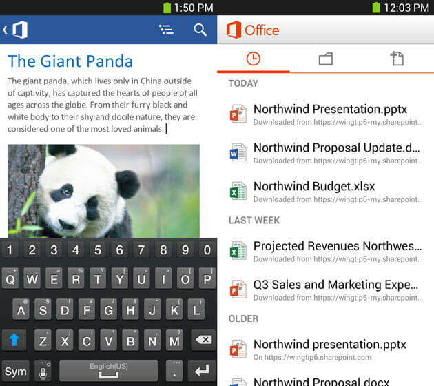 Top 5 Most Popular and Less Known Android Apps by Microsoft
