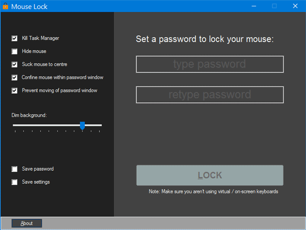 Mouse Lock for Windows