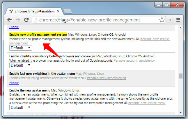 New Profile Management in Chrome