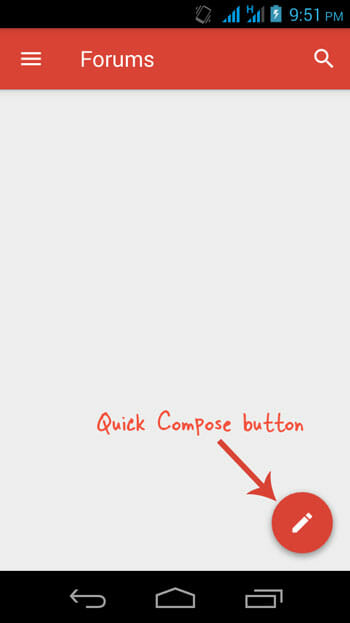 New Quick Compose button