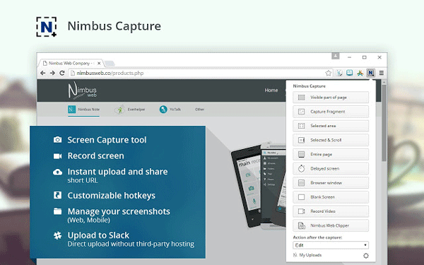 Nimbus Best Extensions to Capture Screenshots in Chrome and Firefox