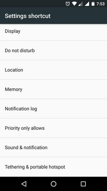 Notification log in Android widget