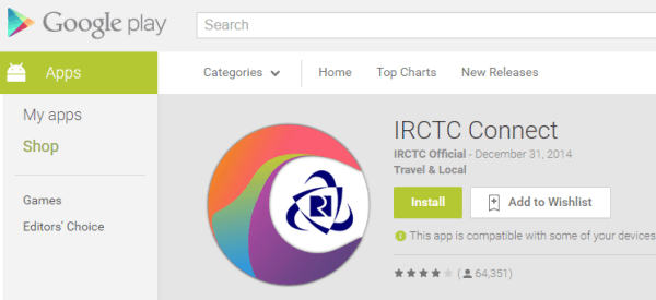 Official IRCTC Connect Android App Download