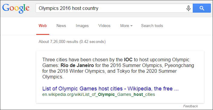 Olympics 2016 host country