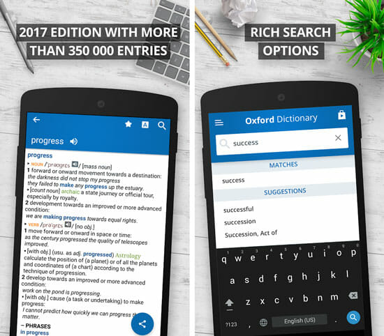 Oxford Dictionary of English Best Dictionary or Thesaurus Apps for Android and iOS