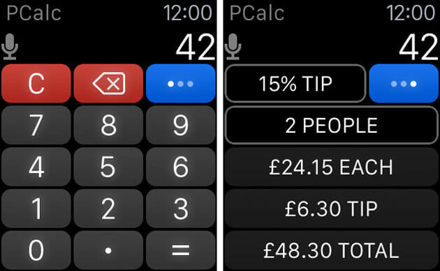 PCalc for Apple Watch