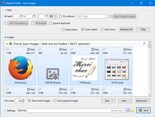Pick & Save Images Firefox Add-on Saves All Images from Any Web Page
