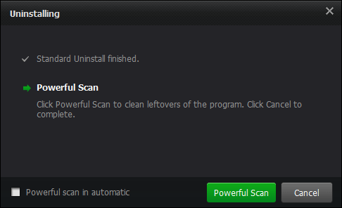 Powerful scan using iobit uninstaller
