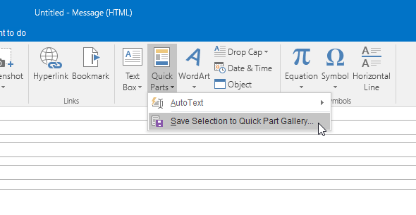 Quick Parts in Outlook