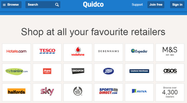 Quidco UK Cashback Site