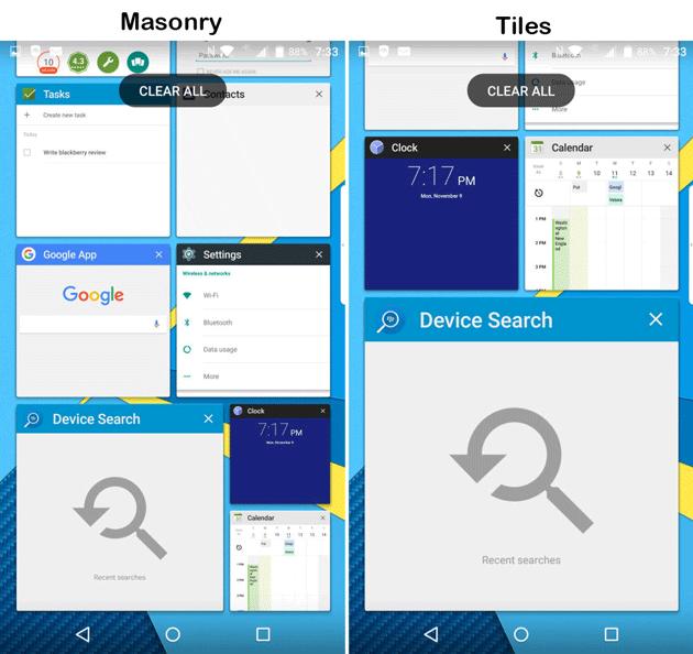 Recent Apps view on BlackBerry Priv