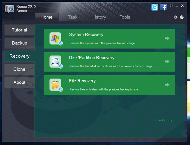 Recover Data using Reene Becca