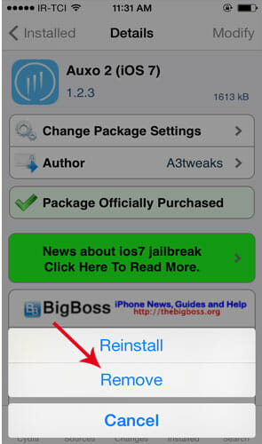 Remove-Cydia-Package