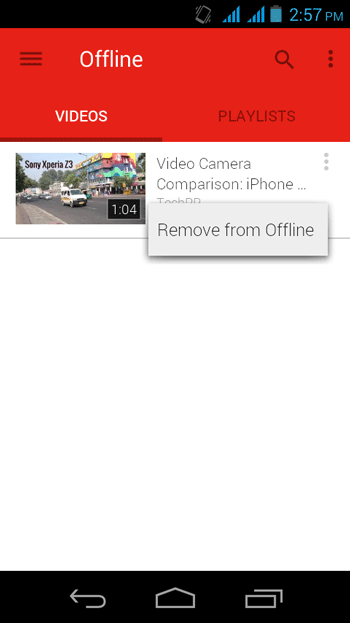 Remove Downloaded Video from Youtube
