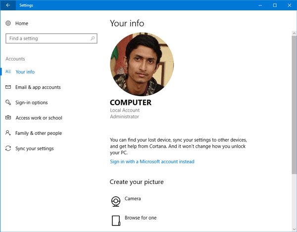 Remove Old Profile Pictures from Windows 10