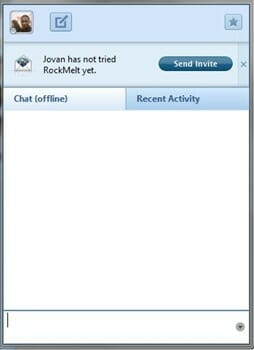Facbook Chat Windows in Rockmelt
