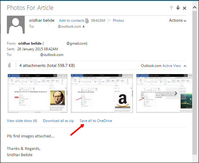 Save email attachments to One Drive_Save all to One Drive