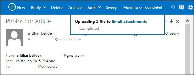 Save email attachments to One Drive_to Email attachments