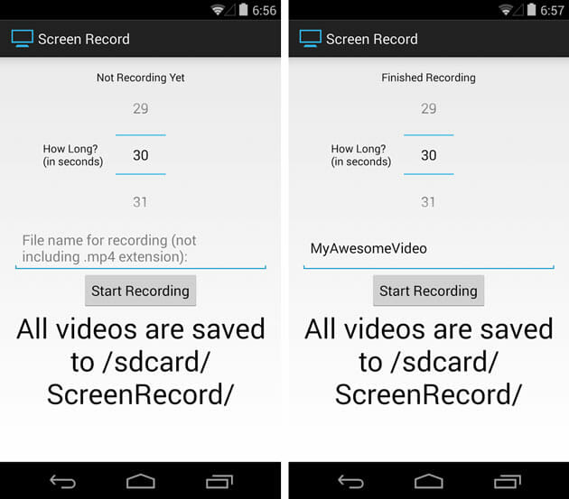 Screen Record for Kitkat plus