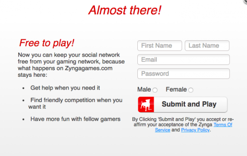 the zynga account you are logged in as is linked to another facebook account