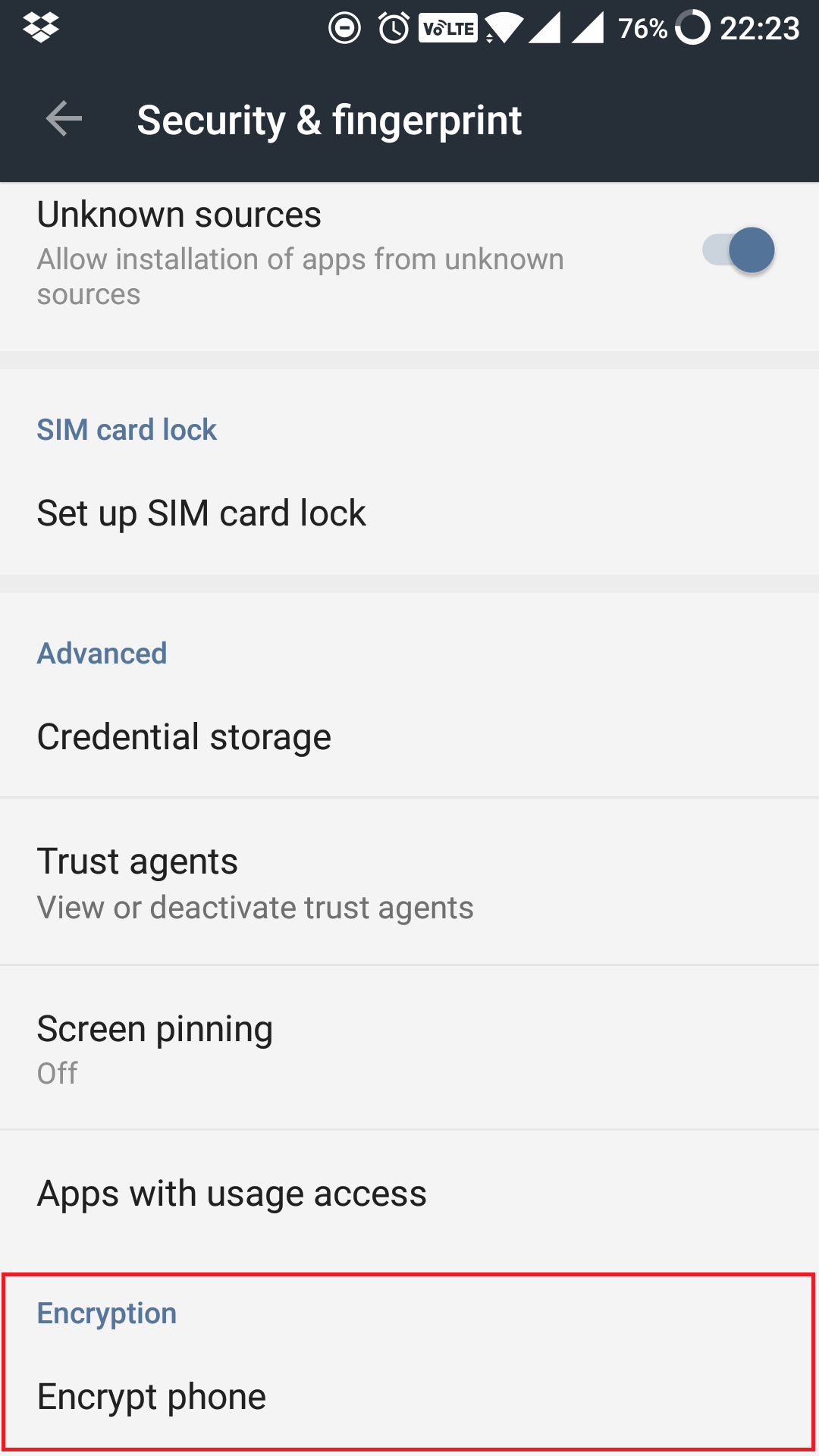 encrypt your android phone