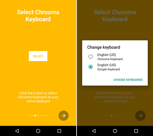 Select Chrooma keyboard