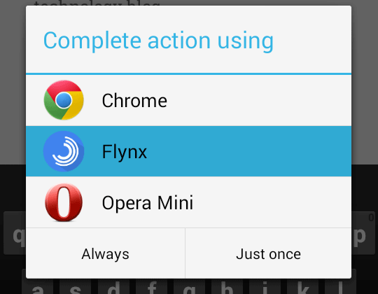 Select Flynx and Just Once to Open ONly One Time