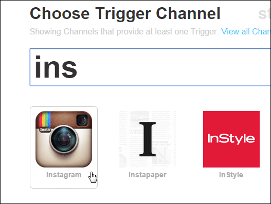 Select-Instagram-Channel