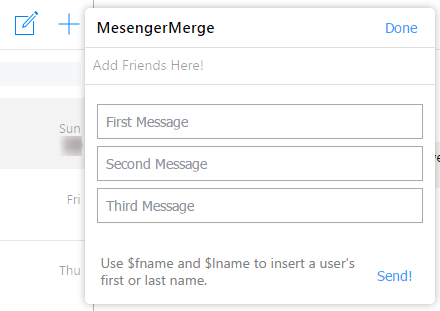 Send message to multiple person in facebook