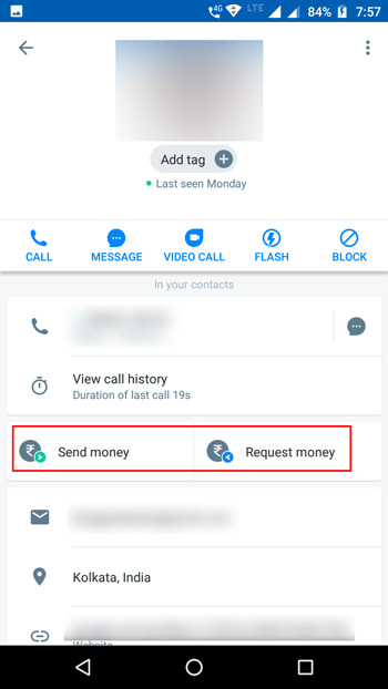 Send or Request Money Best Truecaller Features