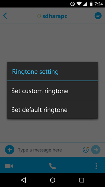 Set Custom Ringtone for Skype Contacts on Android