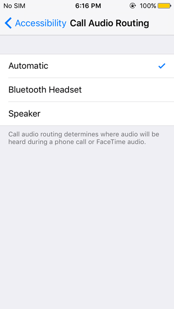 Set Speakerphone Automatically on iPhone Calls