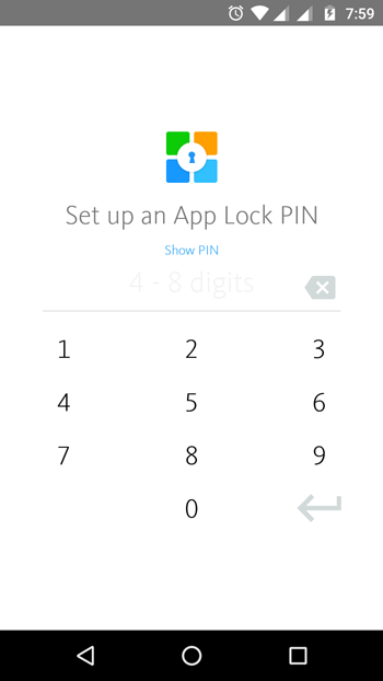 Setup applock pin in AppLock+