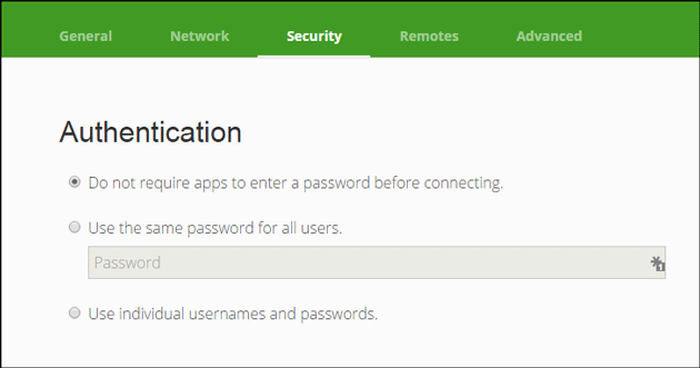 Setup-password-for-unified-remote