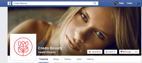 Shopify Credo Beauty Facebook Store
